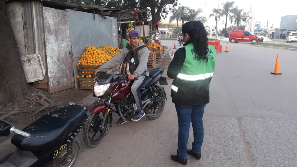 Continúan los controles de tránsito conjuntos entre los municipios de Resistencia y Barranqueras