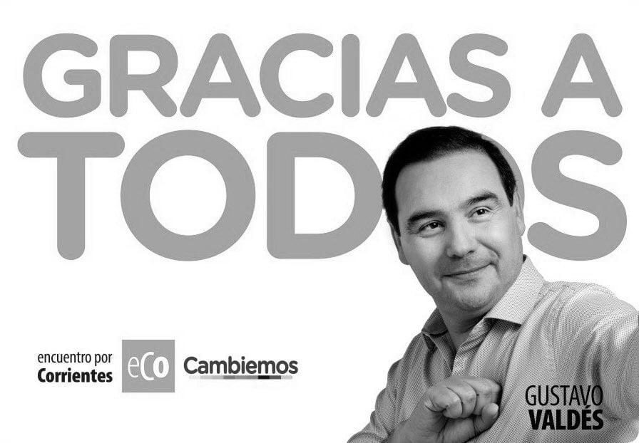 Corrientes: Valdés festeja el primer triunfo de Cambiemos en 2019
