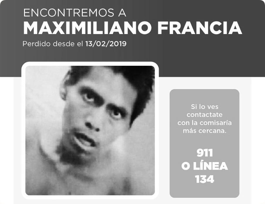 Buscan a Maximiliano Francia, un joven discapacitado del Barrio Toba desaparecido en febrero