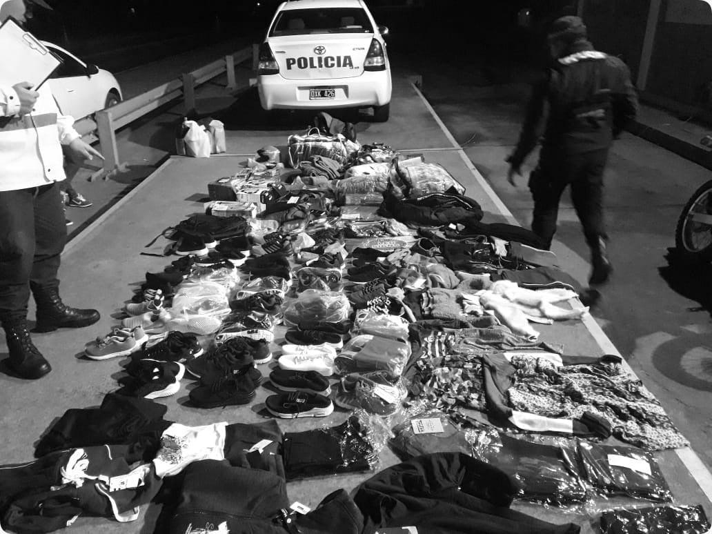 Paralelo 28: decomisan indumentaria y electrodomésticos de contrabando que iban rumbo a Santa Fe