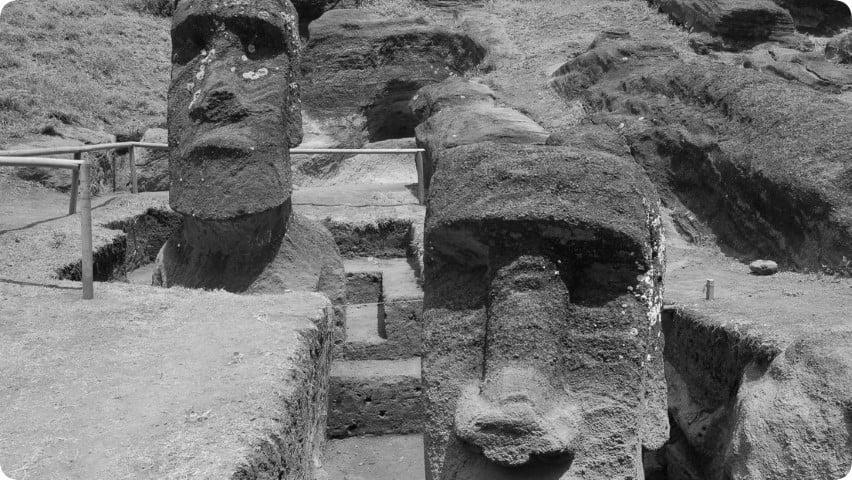 ¿Por qué se quedaron en la cantera algunos moái de la Isla de Pascua?
