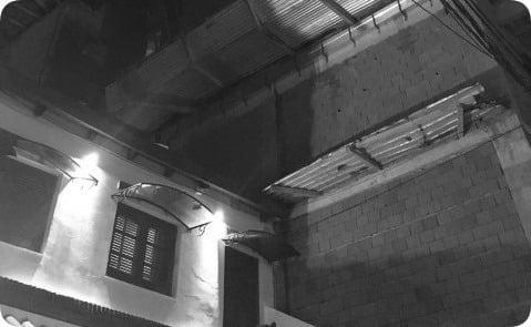 Wilde al 600: por la tormenta se cayó la pared del octavo piso de un edificio en construcción