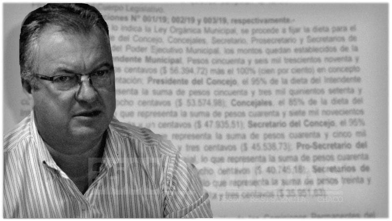 Castelli: Pio Sander se fijó una dieta que alcanzaría los $160 mil mensuales
