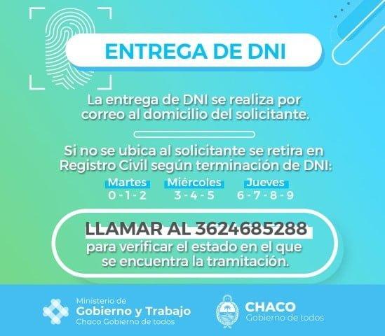 """Durante la cuarentena se podrá tramitar el DNI digital """"de urgencia"""""""