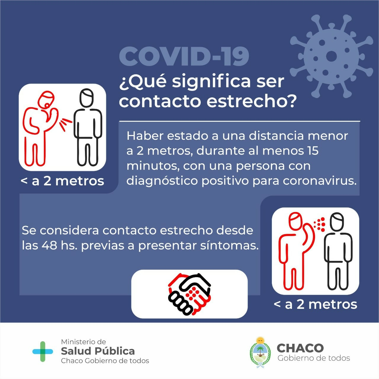 """Coronavirus: Salud amplió la definición de """"contacto estrecho"""""""