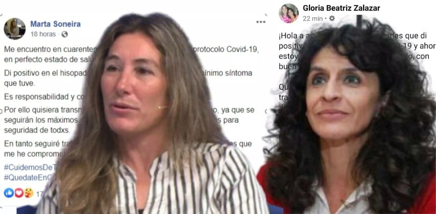 Zalazar y Soneira dieron positivo en el test COVID-19