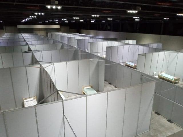 Instalaron 288 camas en el Centro de Convenciones Gala para el cuidado de pacientes leves