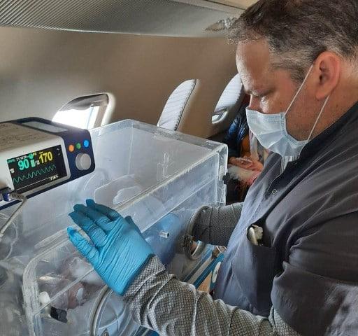 Salud Pública realizó dos nuevas aeroevacuaciones