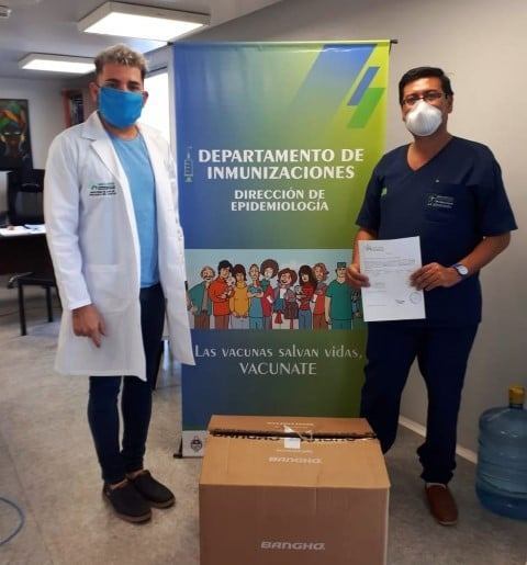Provincia entregó 19 computadoras a vacunatorios