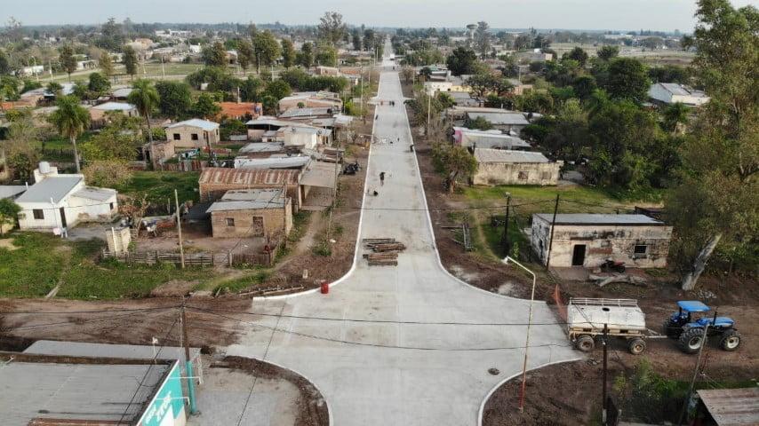 Vialidad Provincial concluyó obra de pavimento urbano en Presidencia de la Plaza