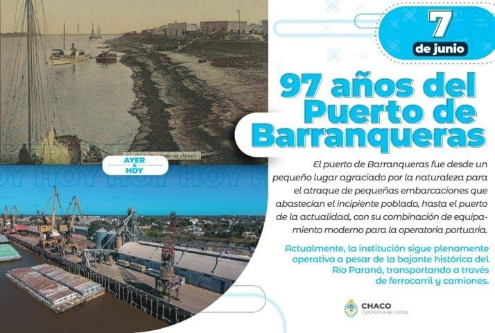En su cumpleaños 97, el Puerto de Barranqueras bate su propio récord en transporte de producción