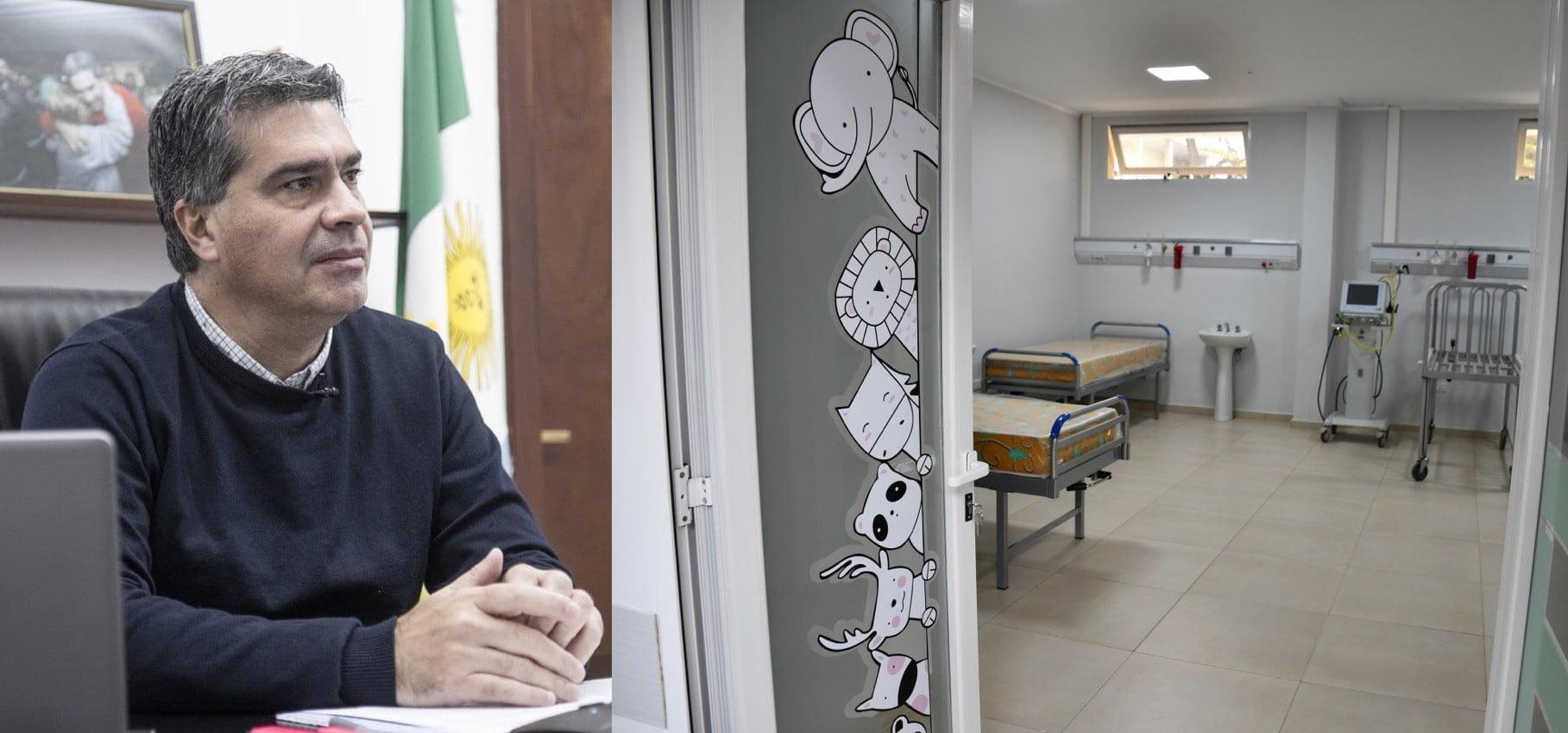 Vía teleconferencia, Capitanich inauguró la sala pediátrica y la unidad de cuidados intensivos de la UNCAUS