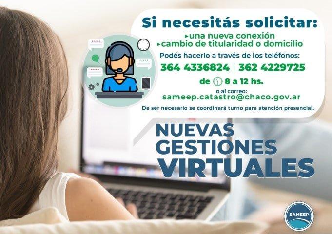 SAMEEP informa que se pueden realizar trámites virtuales en la división Catastro
