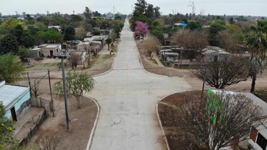 Vialidad Provincial ejecuta la segunda etapa de pavimentación urbana en Corzuela