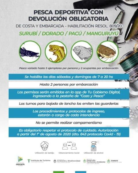Se habilitó la pesca deportiva con devolución de embarcación y costa: a partir del 1º de agosto se otorgarán los permisos
