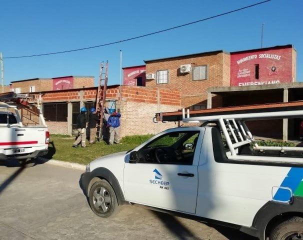 Secheep detectó un centenar de conexiones truchas en el Barrio Emerenciano