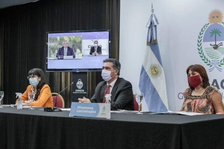 Fernández con Capitanich, Kicillof, Perotti y Carreras anunciaron ayuda económica para víctimas de la violencia machista