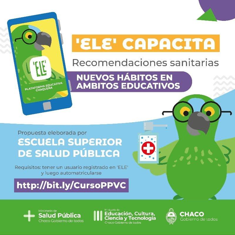 `ELE': Educación y Salud brindan recomendaciones sanitarias a docentes y no docentes