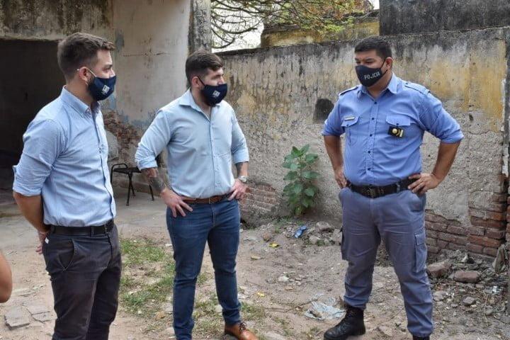 Villa Berthet: Seguridad supervisó obras y se reunió con autoridades policiales