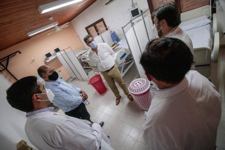 El gobernador inauguró un centro de aislamiento para pacientes con Covid-19 en Las Breñas
