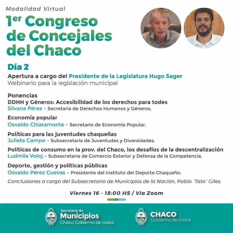 La Legislatura participa del Primer Congreso de Concejales del Chaco
