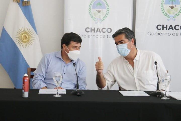 Capitanich firmó con Arroyo convenio para dos programas de financiación: para barrios y prevenir adicciones