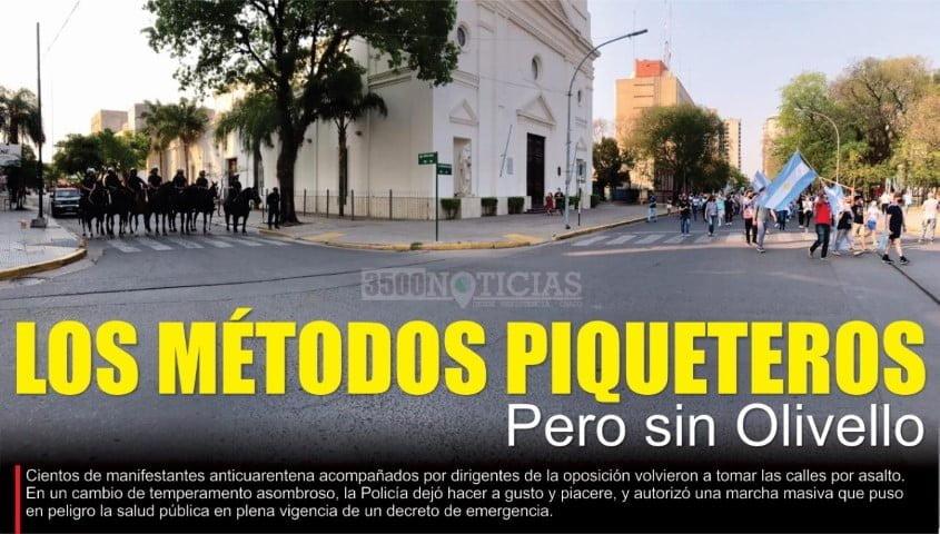 """La derecha festejó el """"Día de la Raza"""" con una nueva marcha de la bronca"""
