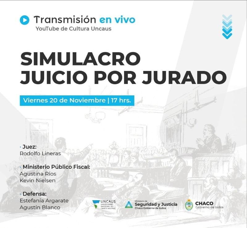 Hoy se realiza en Sáenz Peña el primer Juicio Penal por Jurados
