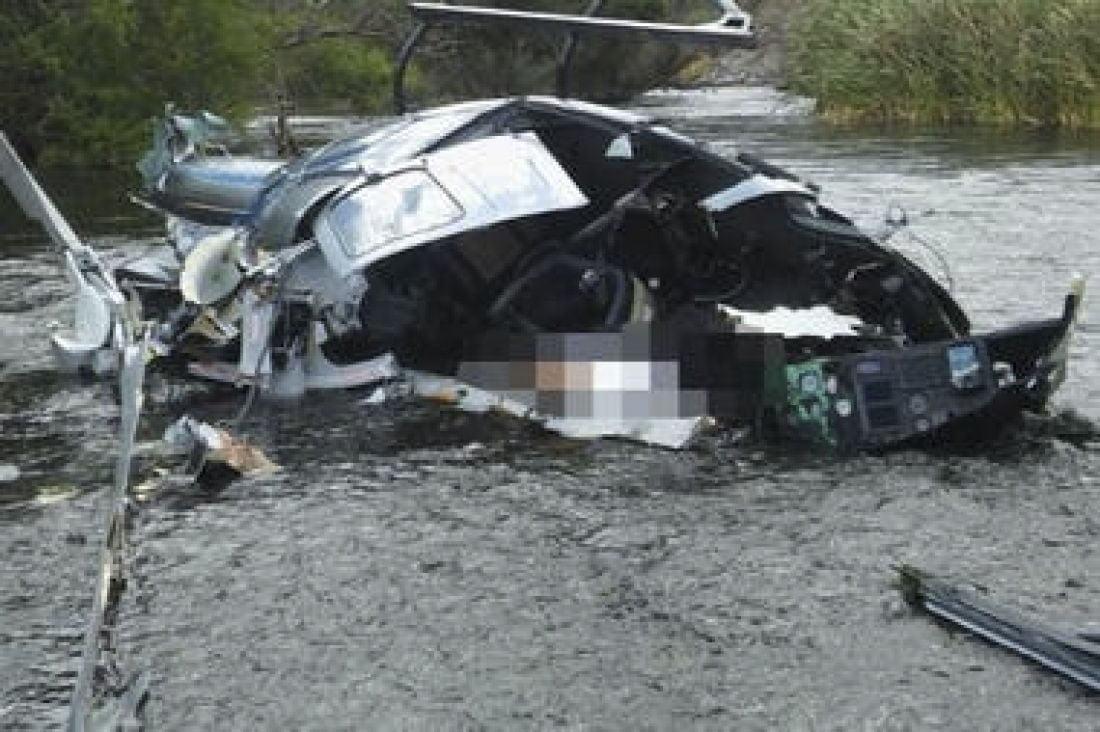 Se realizan peritajes en el lugar de la caída del helicóptero que comandaba Jorge Brito