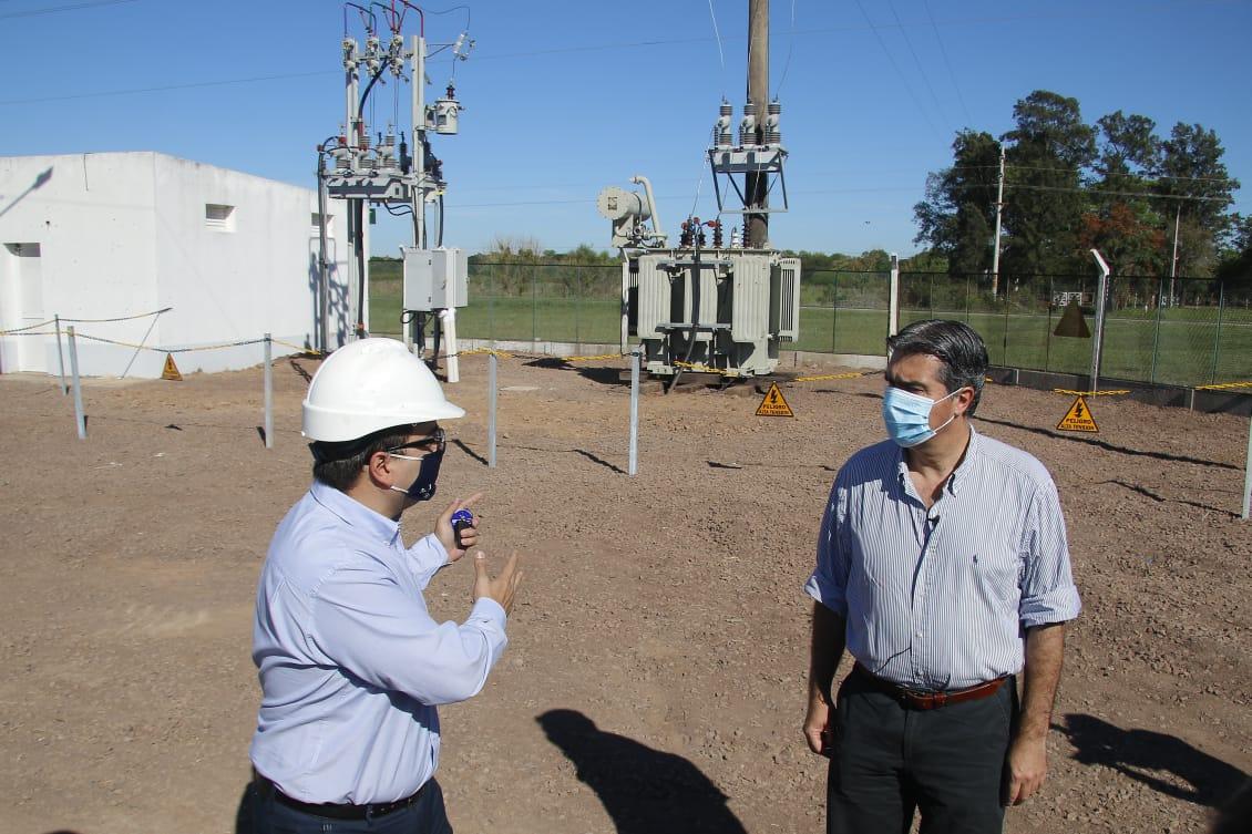 El gobierno inauguró una nueva estación transformadora para abastecer a Selvas del Río de Oro, La Eduvigis y a la empresa Frigoporc