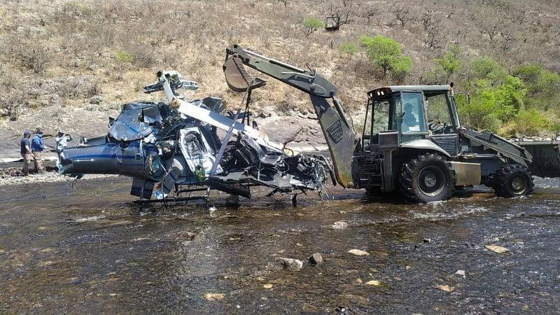 La Junta de Seguridad en el Transporte confirmó que el helicóptero de Brito cayó al impactar con la tirolesa