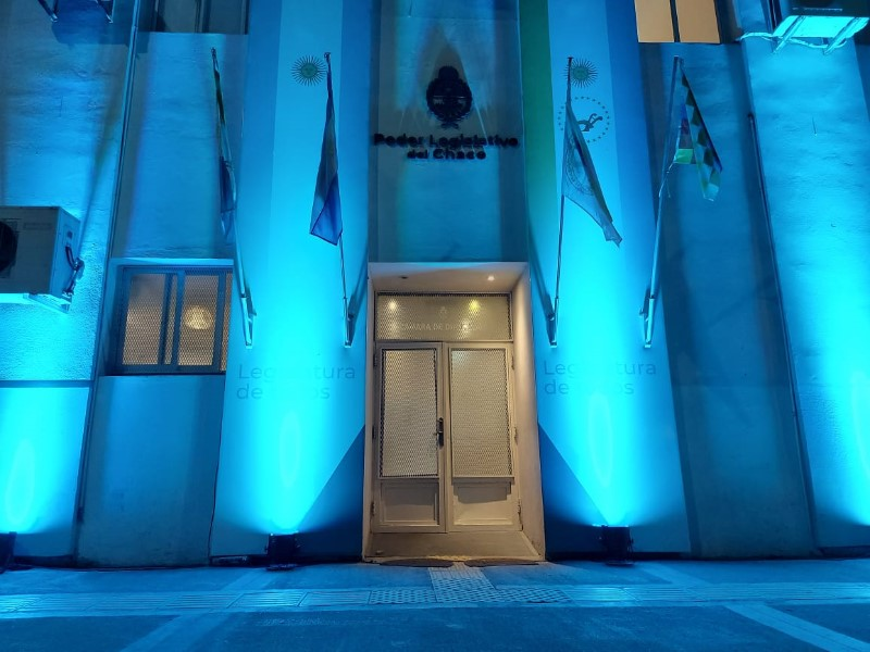 Este sábado la Legislatura se iluminará de azul turquesa en adhesión al  Día Mundial de la Diabetes