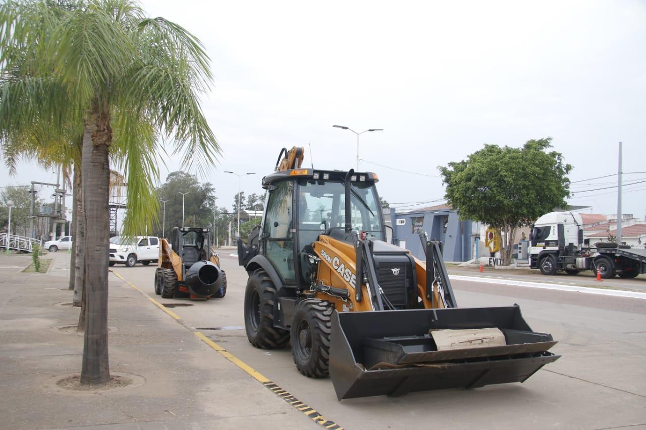 Pinedo y Hermoso Campo reforzaron sus flotas de equipos viales con líneas de crédito del NBCH