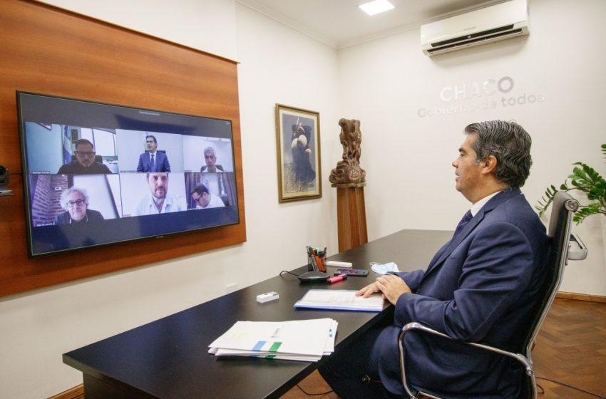 Capitanich analizó con Martín Gil el avance del plan de obras públicas