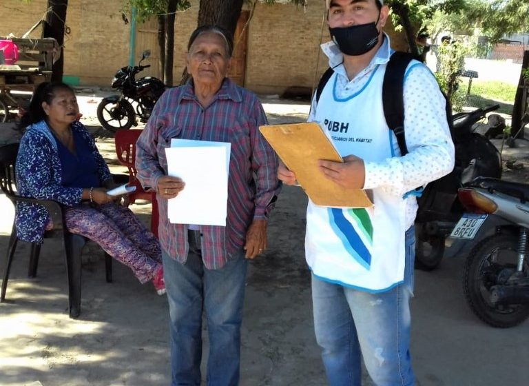 Buscan regularizar tierras de familias qom de la Chacra 7 de Castelli