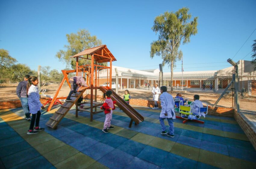 Reparación histórica: inauguran en Fortín Belgrano el nuevo edificio de la Escuela Nº 1072