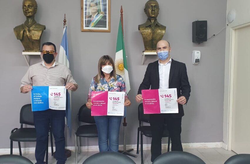 Insaurralde promueve la inclusión laboral de víctimas de trata y explotación de personas