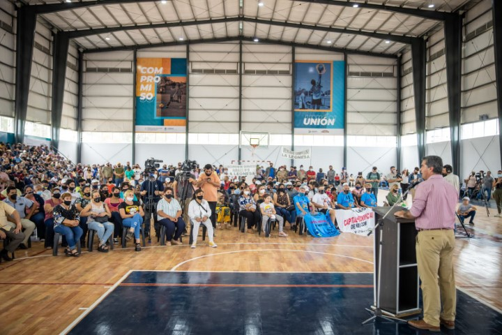 Capitanich inauguró el microestadio de La Leonesa para la práctica de deportes de alto rendimiento